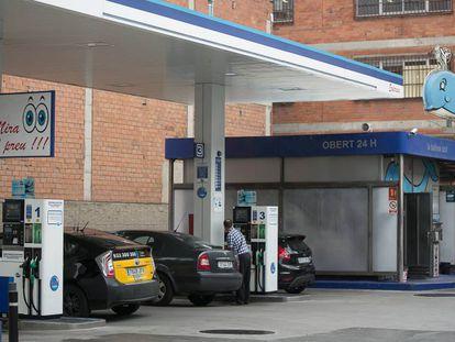 Una gasolinera de Ballenoil en Barcelona.