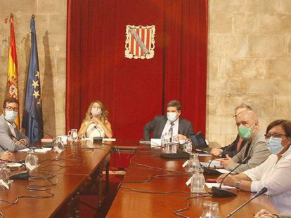 Reunión de la mesa de diálogo social en Palma de Mallorca, el pasado 7 de septiembre.