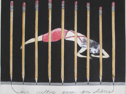 Ilustración 'Ser cultos para ser libres' (2005),.