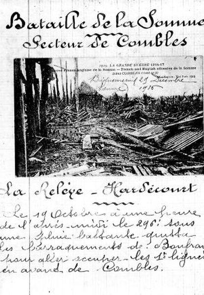 Página de los cuadernos de Louis Barthas.