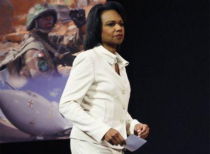 Condoleezza Rice, durante la reunión de la OTAN en Bruselas.