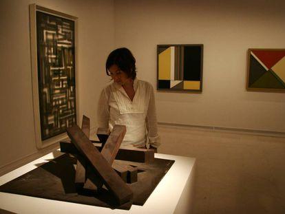 Escultura de Gerardo Rueda en una exposición del IVAM en 2006.