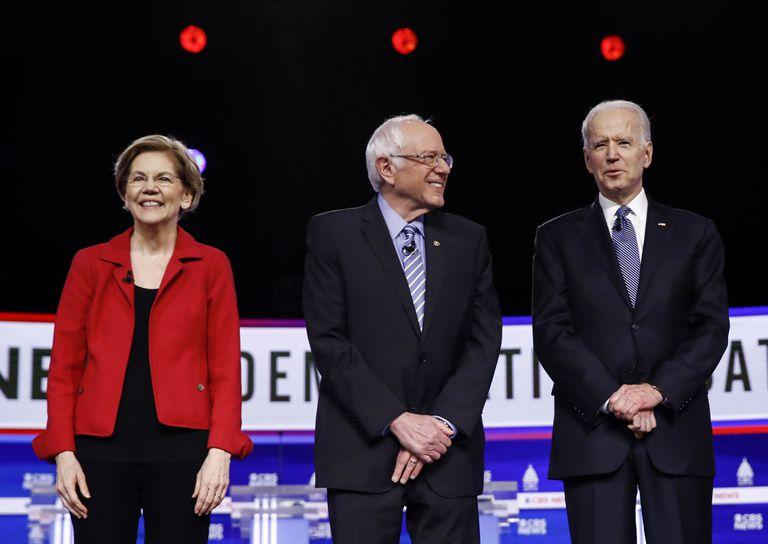 Bernie Sanders, en el centro.