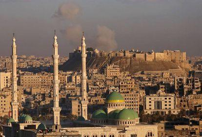 La ciudadela de Alepo en la Ciudad Vieja, a principios de diciembre.