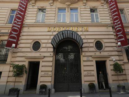 Fachada de la casa de apuestas Dorotheum, en Viena.