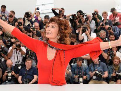 La actriz italiana Sofía Loren, en Cannes.