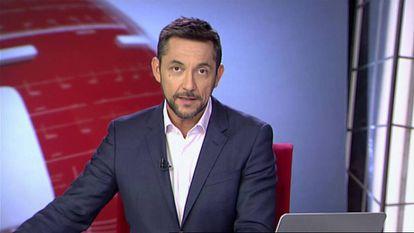 Javier Ruiz, presentador de la segunda edición de los informativos de Cuatro.