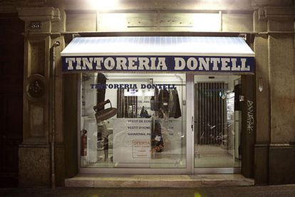 El restaurante clandestino barcelonés Don't Tell, en el interior de una tintorería que existió hace años con el nombre de Dontell.