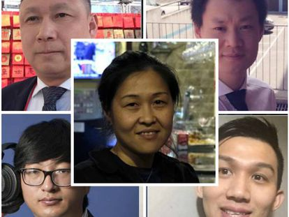 De izquierda a derecha, y de arriba a abajo: Xiao Hai Zhu; Eva Yin; Sen Lin; Dawei Ding y Jorge Chen.
