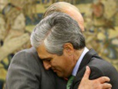 Don Juan Carlos recibe su última audiencia en La Zarzuela antes de la proclamación