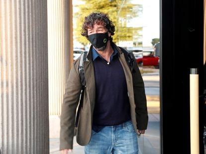 Nacho Palau a su llegada a los juzgados de Pozuelo de Alarcón en Madrid.