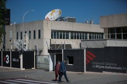 Exterior de las instalaciones de TV3 en Sant Joan Despí (Barcelona).
