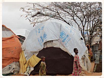 Campamento de refugiados en Mogadishu. © AI