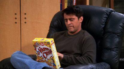 Joey lo mismo se comía un pavo entero, que pizza o espaguetis. Por supuesto, sus cereales Vaffle Crisp eran una gochada a la altura de su paladar en forma de mini gofres.
