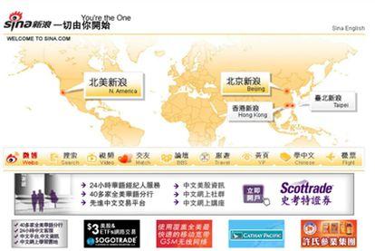 Página en Internet del 'microblog' Sina.com