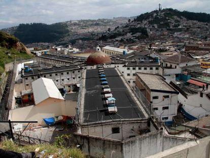 Vista aérea de la cárcel García Moreno, en Quito (Ecuador).