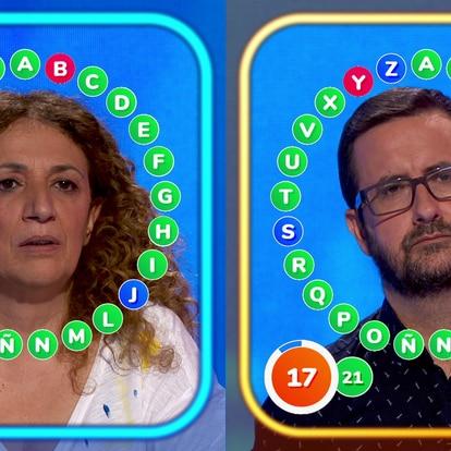 Sofía y José Antonio, concursantes de 'Pasapalabra'.