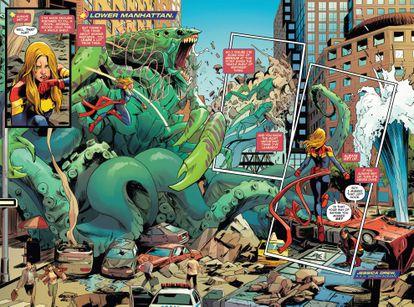 Página de Carmen Carnero en la serie dedicada a Capitana Marvel.