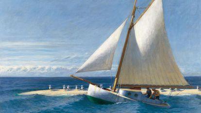 'El Martha Mckeen de Wellfleet', de Hopper, que puede verse en Málaga.