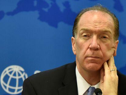 El presidente del Banco Mundial, David Malpass, en la reunión anual en octubre de 2019.