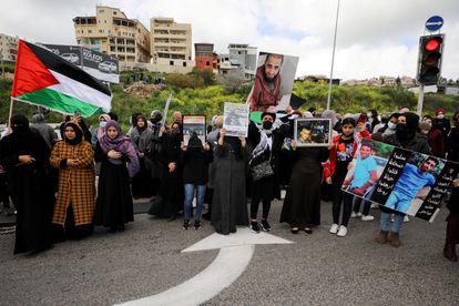 Protesta de árabes israelíes contra la inseguridad ciudadana, el día 12 en Um al Fahm.