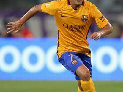 Pedro, en un partido de la pretemporada.