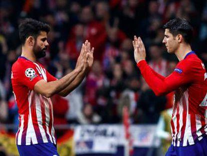 El técnico del Atlético apuesta por la pegada de Morata y Costa, a los que alineará por primera vez juntos de inicio en Mallorca