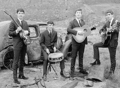 El cuarteto de Liverpool, en una imagen promocional de sus inicios en la primera mitad de los años sesenta.