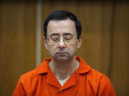 Larry Nassar escuchó su sentencia el 5 de febrero de 2018 en un tribunal de Michigan.