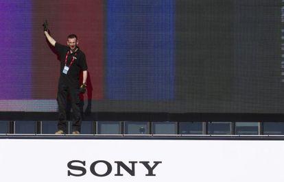 Preparativos de Sony en la MWC.