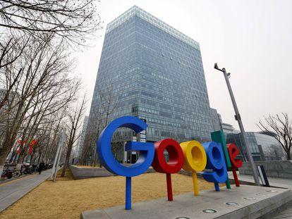 La oficina de Google en Beijing (China), el 10 de marzo de 2021.