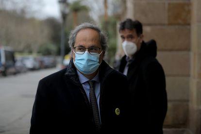 El expresidente de la Generalitat Quim Torra llegando al Parlament, en una imagen de archivo.