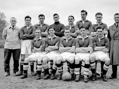 El Chelsea, en la temporada 1954-55, la de su primer título de Liga.