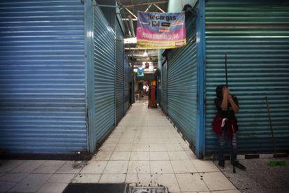 Comercios cerrados en la alcaldía de Xochimilco, en Ciudad de México, el 31 de marzo.