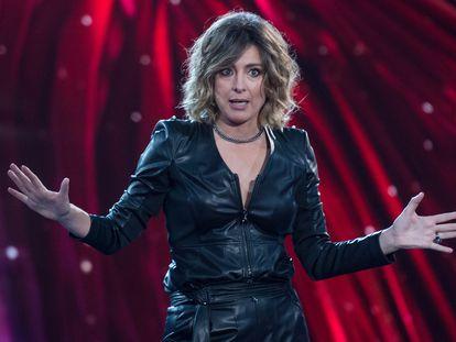 La presentadora de televisión y escritora, Sandra Barneda, en el plató del programa 'La isla de las tentaciones' en Madrid el pasado en enero.