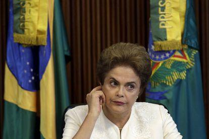 Rousseff, este viernes en el Palacio do Planalto.