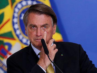 El presidente de Brasil, Jair Bolsonaro, en Brasilia, el pasado 29 de junio.