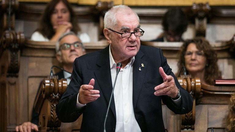 Intervención de Ernest Maragall en un pleno del Parlament el año pasado.