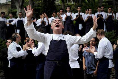 Ferran Adrià, en la despedida de elBulli el 30 de julio de 2011.