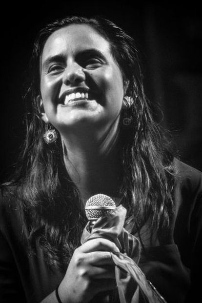 Verónika Mendoza, candidata a la presidencia.