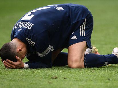 Cristiano Ronaldo, durante el partido que la Juventus perdió contra el Benevento.