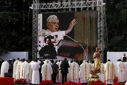Momento de la misa celebrada por el cardenal arzobispo de Madrid Rouco Varela
