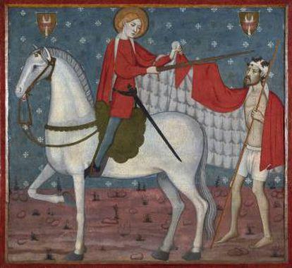 'San Martín y el mendigo', obra inédita hasta ahora atribuida a Jaume y Pere Serra, a finales del siglo XIV.
