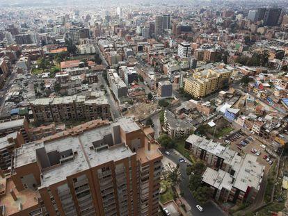 Vista de la ciudad de Bogotá (Colombia).