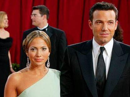 Jennifer López y Ben Affleck en 2003.