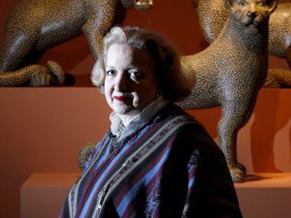 Cándida Fernández, comisaria de exposicón de arte popular iberoamericano.