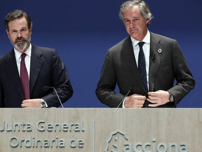 Juan Ignacio y José Manuel Entrecanales, vicepresidente y presidente de Acciona, respectivamente.