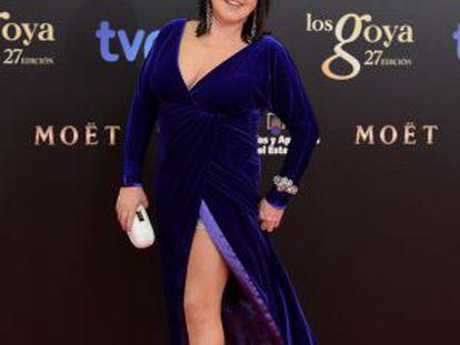 Loles León posa a su llegada a la gala de los premios Goya el pasado fin de semana.