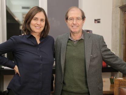 Los profesores Shafi Goldwasser y Silvio Micali, expertos en criptografía y ganadores de los premios Turing en 2012 y Fronteras del BBVA en 2018.
