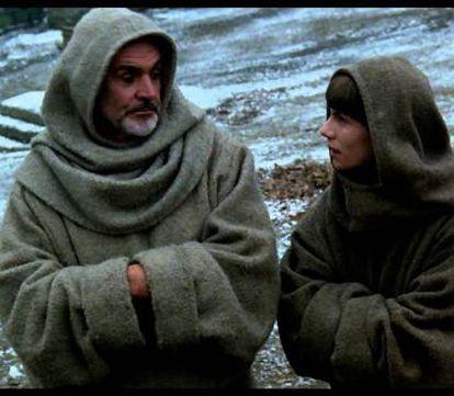 Sean Connery y Christian Slater en 'El nombre de la rosa'.